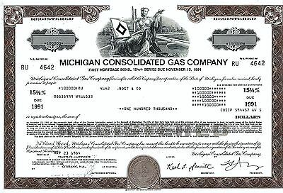 Michigan Consolidated Gas Company, 1984, 15 5/8% Bond due 1991 (100.000 $)