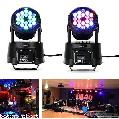 80W LED RGB Moving Head Stage Light DMX512 Beam Wash Spot Lighting DJ Disco Bar