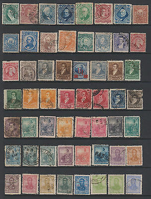 Argentina- Collection - from earlies - 234 mint & used stamps - on 6 pages