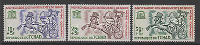 Chad  - 1964 SG112/4   Nubian Monuments Preservation Fund- Mint Hinged set of 3
