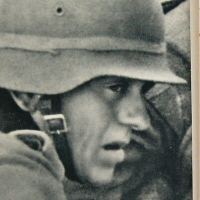 Countenances Faces of German Soldiers in Battle / Fight Kampf Photo booklet 1942