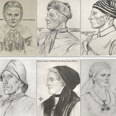 Wolfgang Wolf Willrich Book w/40 portraits of German peasants Faces Figures Art