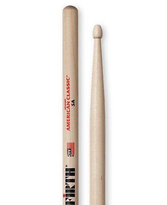 Vic Firth Wood Tip Drum Sticks, 5A, 5B, 2B, 7A, Extreme 5A, Extreme 5B