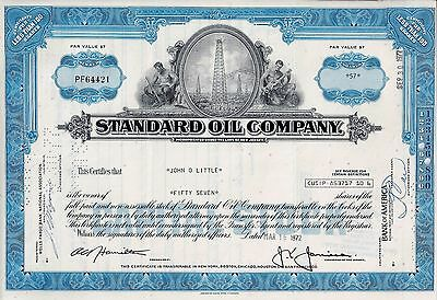 Standard Oil Company, New Jersey, 1972 (57 Shares)