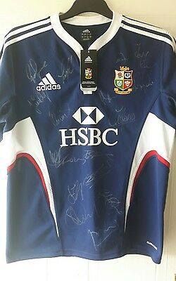 british and irish lions 2009 signed rugby shirt