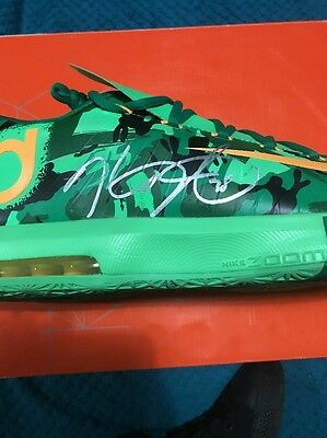 Signed Kevin Durant Shoe, Golden State Warriors, MVP Authentic