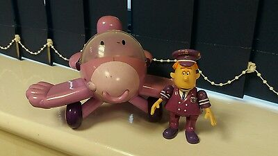 """ENGIE BENJY -  4"""" PILOT PETE FIGURE AND 8"""" PLANE by Born To Play -GOOD CONDITION"""