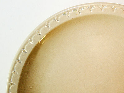 Syracuse China Dinner Plate, Restaurant Ware, Econo-Rim, Tan Color, 9.5""