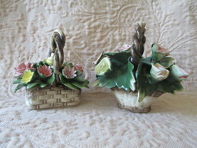 Capodimonte Basket of Flowers Plus Another