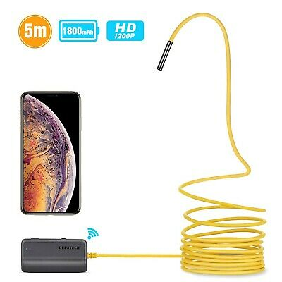 Depstech WiFi Endoscope,Upgraded Semi-rigid Wireless Borescope Inspection Camera