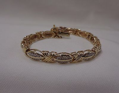 "1.00ct Diamond Bracelet in 9ct Yellow Gold - 19cm ( 7 1/2"")"
