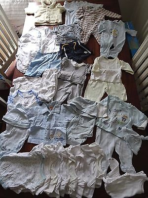 Baby boy bundle clothes 0-3 months 29 items exellent used condition (box 202)