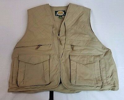 Cabelas Upland Bird Hunting Shooting Vest Size XL Ammo Game Pouch NWOT