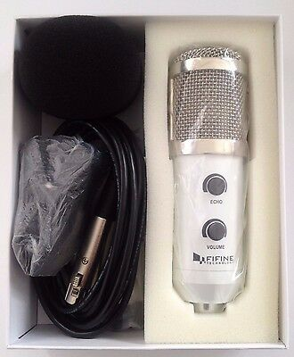 Fifine K056 Usb Stereo Microphone With Adjustable Tripod - White