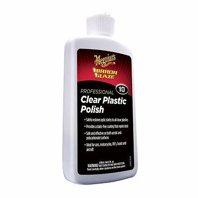 Meguiar's Clear Plastic Polish  8oz (-: