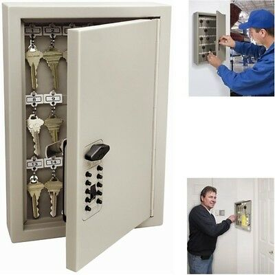 New Key Combination Lock Box Cabinet Storage Safe Wall Mount Holder