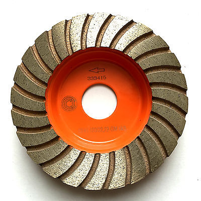 "100mm, 4"" PREMIUM QUALITY diamond grinding disc, wheel, cup. FINE GRIT"