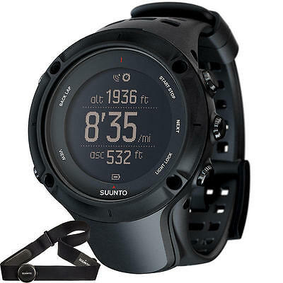 Suunto Ambit3 PEAK BLACK HR GPS Watch with Heart Rate Monitor. Fully BOXED