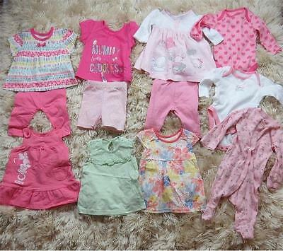 Baby Girl big bundle of clothes, age 0 - 3 months, dress, sleepsuits P013