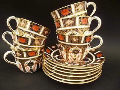 Royal Crown Derby 1St Quality Old Imari 1128 Set Of Six 6 Tea Cups And Saucers