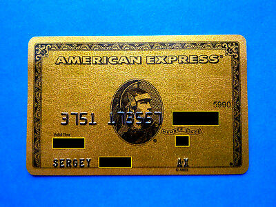 Russia American Express Gold Credit Card, Rare