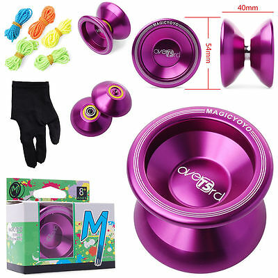 Professional YoYo Ball Bearing String Trick Stainless Steel Toy Purple Tone TH1