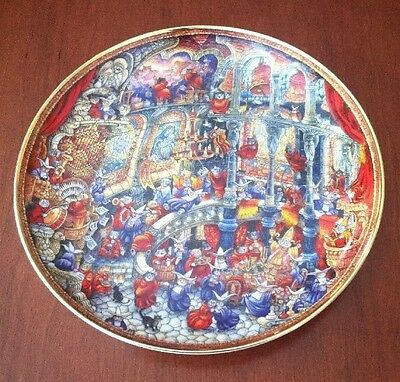 """Franklin Mint BILL BELL Numbered CAT Collector PLATE """"Holy Cats"""""""