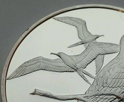 British Virgin Islands 1 Dollar 1973.KM#6a.Silver One Crown coin. Frigate. Bird.