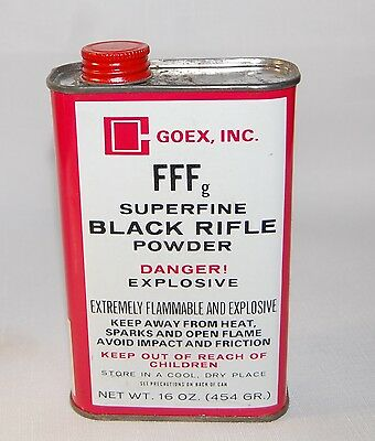 Empty GOEX  FFFg Black Powder Tin for Display and Man Cave