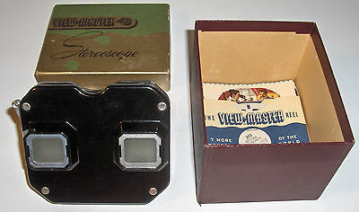 Vintage View-Master Stereoscope with Slides and Instructions in Box.