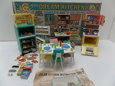 Deluxe Reading Dream Kitchen Barbie Sized Appliances Dishes Play-Food Vtg Lot