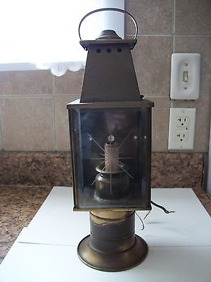 Vintage electric outside porch coach lamp wall mount