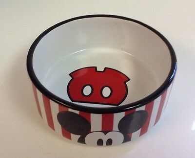 Mickey Mouse Cereal Ice Cream Bowl Red Stripes