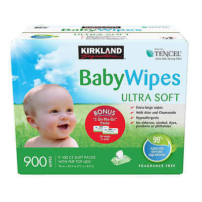 Kirkland Signature Baby Wipes 900-count With Aloe & Chamomile, Ultra Soft NEW