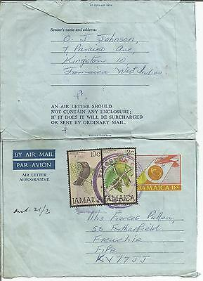 Jamaica  18c  Uprated  Birds  Stationery Postal  1982  Used Aerogramme Airletter