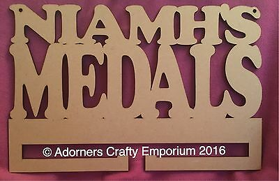 Personalised Medals Wall Hanging Rack Stand 30 X 20cm Mdf Wooden Wood