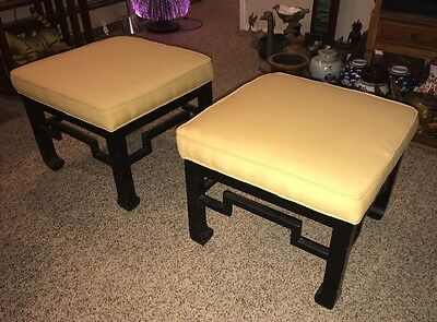 Pair Of MCM High Quality Ottomans /James Mont Style