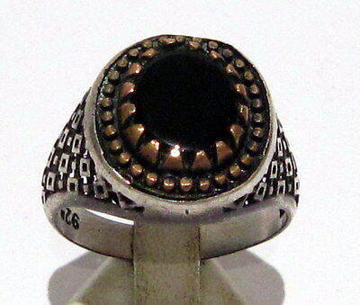 AMAZING SILVER 925% MEN'S RING FROM THE EARLY 20 th c.WITH OPENWORK  # 717