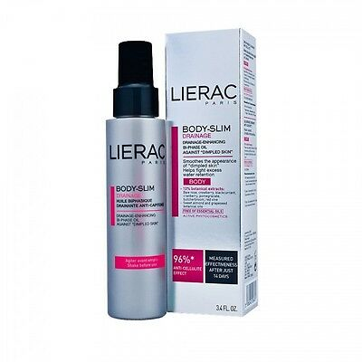 LIERAC BODY-SLIM DRAINAGE LISSE DES CAPITONS CORPS 100ml NEUF