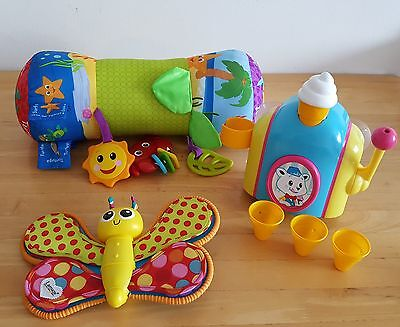 JOBLOT OF MIXED TOYS -Tomy Foam Cone Factory Activity Toy-Lamaze-Baby Einstein