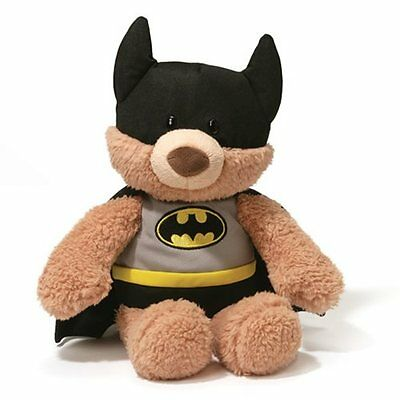 DC Comics  ~ BATMAN MALONE (Black Outfit) ~ 12-Inch Bear Plush by Gund ~ NWT