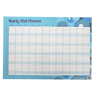 Large Reusable Daily / Weekly / Yearly Wall Planner - Spots Design - A2 or A3