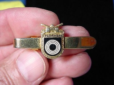 Vintage 1950s US Army 3rd Armored Division Spearhead Marksman's Tie Bar Clasp