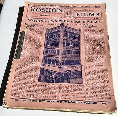 1941-1947 RUSSELL ROSHON Films 16mm Movie Ads Film-Fax Rare Full Book VINTAGE