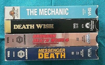 Lot of 4 VHS - Classic - Charles Bronson - Vigilante Action Crime Thriller
