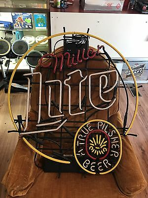Rare Miller Lite Beer Neon Very Large And Rare 36by32 Inches