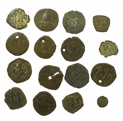 Ancient Coin Collection, Byzantine, 16 Coins