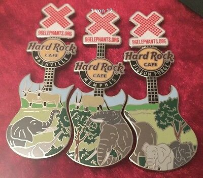 Hard Rock Cafe HRC AZA Elephant Lapel Pin Set Complete Series Elefanten 43 Pins