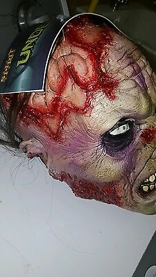 spirit halloween UNDEAD Halloween zombie mask prop haunted house
