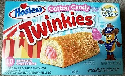 NEW Hostess USA Cotton Candy Twinkies 10 Count Limited Free Worldwide Shipping